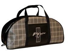 Mustang Tote Bag Plaid Large by Scott Drake Made in the USA