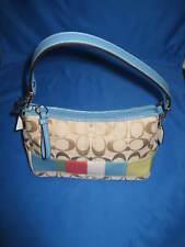 Coach SIG Top Handle Bag F44998 - Khaki / Blue Multi - NWT