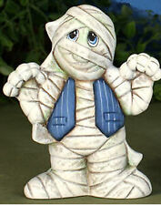 """Ceramic Bisque Small Mummy to paint 5.25""""T x 4.5""""W"""
