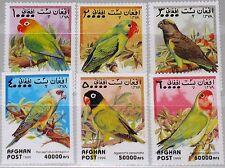 AFGHANISTAN 1999 1923-28 Papageien Parrots Birds Vögel Fauna Orangeköpfchen MNH