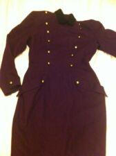 Compaagnie N G  Purple Military Stule Wool Lafdies Dress .Size 38 UK Size 10