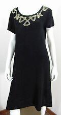 CAROLE LITTLE SHORT SLEEVE DRESS SIZE 10, BLACK