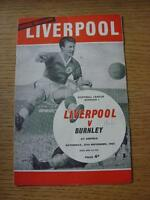 25//04//2010 Burnley v Liverpool /& 30//04//1960 Fulham Reproduction Thanks for