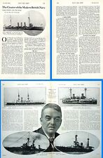 1915 WWI ~  LORD JACK FISHER OF KILVERSTONE CREATOR OF THE MODERN BRITISH NAVY