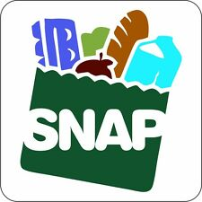 """SNAP ACCEPTED 4"""" x 4""""  DOOR OR WINDOW SIGN (FULL COLOR) FOR BUSINESS FAST SHIP"""
