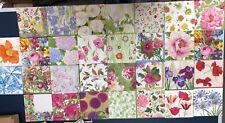 30 different assorted individual Caspari floral paper napkins new decoupage