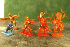 CRESCENT SQUARES Wild West WW Solid Plastic Cowboy Indian Party UK 8Figs Poses