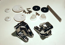 Toilet Seat Hinges - Pair Chrome, Zinc Plated with All Fittings