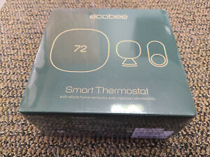 Brand New ecobee3 Lite Smart Thermostat + 2 Sensors EB-STATE3LTVP2-01 Black
