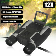 12X Binocular Telescope Video Camera LCD Zoom Record Screen Digital Night Vision