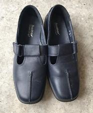 Hotter SUNRISE Blue Leather Hook & Loop Comfort Shoes  UK 6.5 EU40 EXF Wide