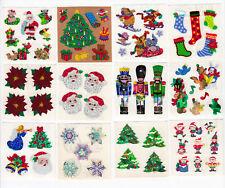 Sandylion Vintage Stickers METALLIC STOCKING GIFTS CHRISTMAS Square Module RARE