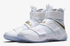 Nike LeBron Zoom Soldier 10 SFG LMTD 'Unite' 883333-174 White Gold UK 14 EU 49.5