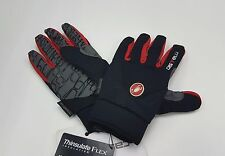 Castelli Winter Men's Cycling CW3.0 Full Finger Gloves Black Red Size L