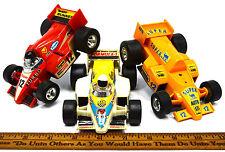 c.1970? FRICTION PULL-BACK CAR Lot; 3 FORMULA 1 RACING Emits Sparks SUPER RUNNER