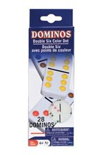 "Mini Dominoes Set of 28 Travel Crafts 1 1/8"" x 1/2"" Small"