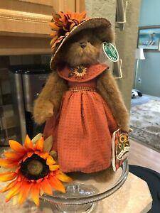 """Bearington Bear """"Sunny Sunflowers"""" 14"""" Collector Bear- #179808- RETIRED: NWT"""