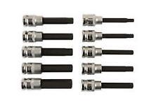 """Laser Tools Hex Bot Set 1/2""""D 10pc Spanner Ratchet 6-17mm Length 100mm"""