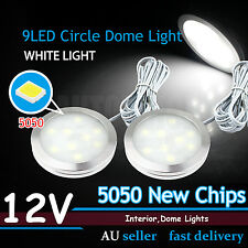 Round Cabinet 9-LED Light 5050SMD Roof Lamp For Ford Falcon AU BA BF FG XR6 XR8