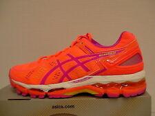 Asics women's running shoes gel kayano 22 pink glow/flash yellow/coral size 6