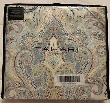 Tahari Home Full/Queen Luxury 3 Pc Duvet Set 100% Cotton W/ 2 Shams, Paisley NEW