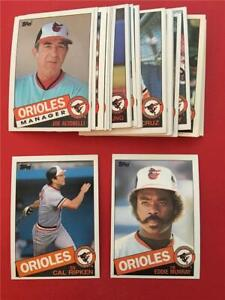 1985 Topps Baltimore Orioles Team Set With Traded 38 Cards