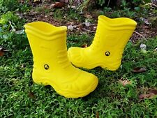 CROCS Georgie Yellow Rain Boot Waterproof Wellies SZ 1 Medium 3 Wide
