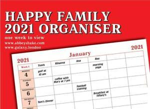 Happy family 2021 organiser one 1 week view home calendar calender planner red