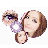 1 Pair Contact Lenses Color Soft Big Eye UV Protection Cosmetic Purple Clover HE