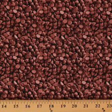 In The Mix Chocolate Chips Baking Food Candy Cotton Fabric Print by Yard D473.07