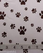 Animal Paws,dog cat, fat quarters,100% cotton, cream STOF Fabric,4507 531