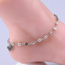 Silver Plated Chain Anklet Ankle Bracelet Barefoot Sandal Beach Foot Jewelry