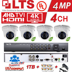 LTS 4CH Security Camera  KIT H.265 / 4 (2MP) 1080P 4 Turret Cameras / 1TB HDD