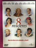 8 Donne DVD Catherine Deneuve Isabelle Huppert Emmanuelle Spagnolo Francese