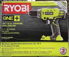 "Ryobi P214 ONE + 18 Volt 18V Lithium-ion 1/2"" Cordless Hammer  Drill Driver"