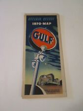 Vintage Gulf Ontario Quebec Canada Oil Gas Station Travel Road Map