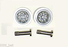 Scalextric sparesw 10033 Classic Mini Cooper S Anteriore Minilite WHEELS & SPILLE BULLONI