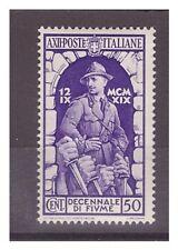 REGNO 1934  -  ANNESSIONE  FIUME   CENT. 50   -  NUOVO **
