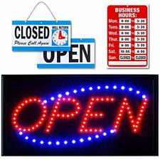 Ultima Led Neon Open Sign for Business: Lighted Sign Open with Flashing Mode