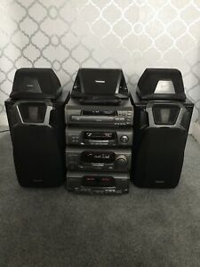 Vintage Technics SA-EH600 Stereo Hifi Separates Stack System Amp Speakers etc