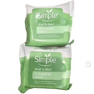 2 New Packs Simple Makeup Remover Wipes