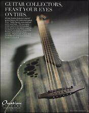 Ovation Collectors DW Series Dragon Wood Elite guitar ad 8 x 11 advertisement