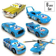 Mattel Disney Pixar Cars Diecast Toy Tex Dinoco 1:55 Racing Team Loose 6 pcs Set