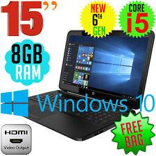 "HP 250 G5 15.6"" 6th Gen Core I5-6200u 4gb DVD ±rw Windows 10 Laptop PC"