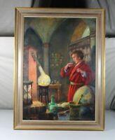 A6/ Öl auf Leinwand - Alexander Hubert Law von Volborth - Apotheker - signiert O