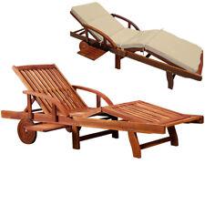 Sonnenliege + Auflage Gartenliege Relaxliege Holzliege Liege Polster Kissen