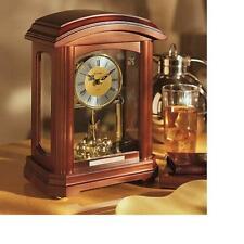 Bulova Nordale Analog Quartz Solid Hardwookd Case Pendulum Mantel Clock (1848)