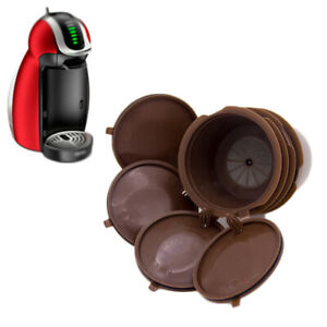 4Pcs Refillable/Reusable Coffee Capsule Pod Cup for Nescafe Dolce Gusto Machine