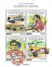 Togo - 2020 Racing Driver Ayrton Senna - 4 Stamp Sheet - TG200153a