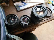 Praktika Camera Lenses X3